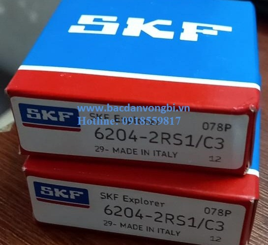 BẠC ĐẠN VÒNG BI SKF 6204 2RS1/C3